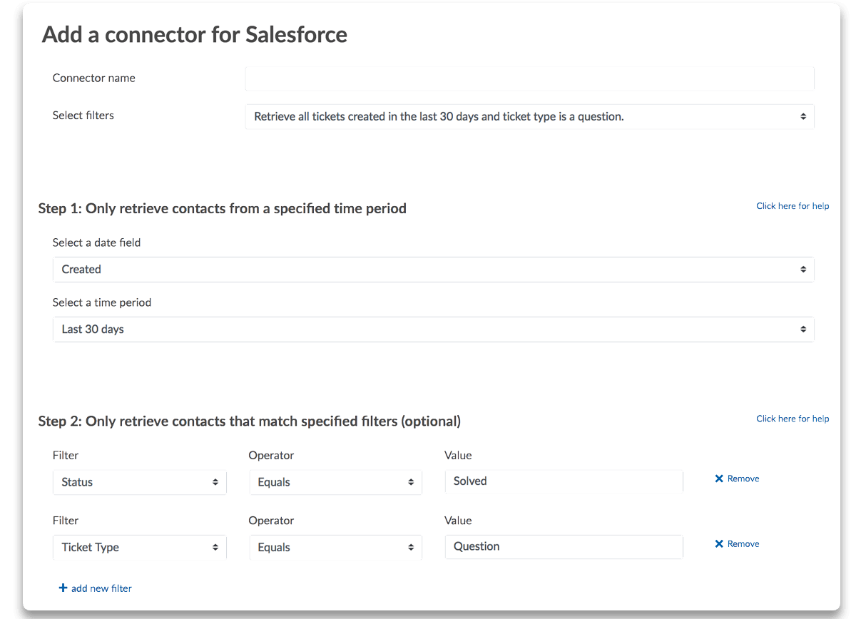 Salesforce Filters