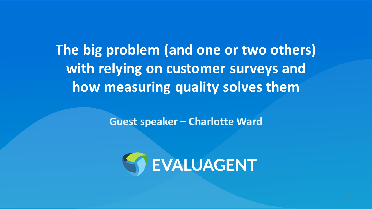 Charlotte Ward - Beyond Customer Surveys - 20.11.19