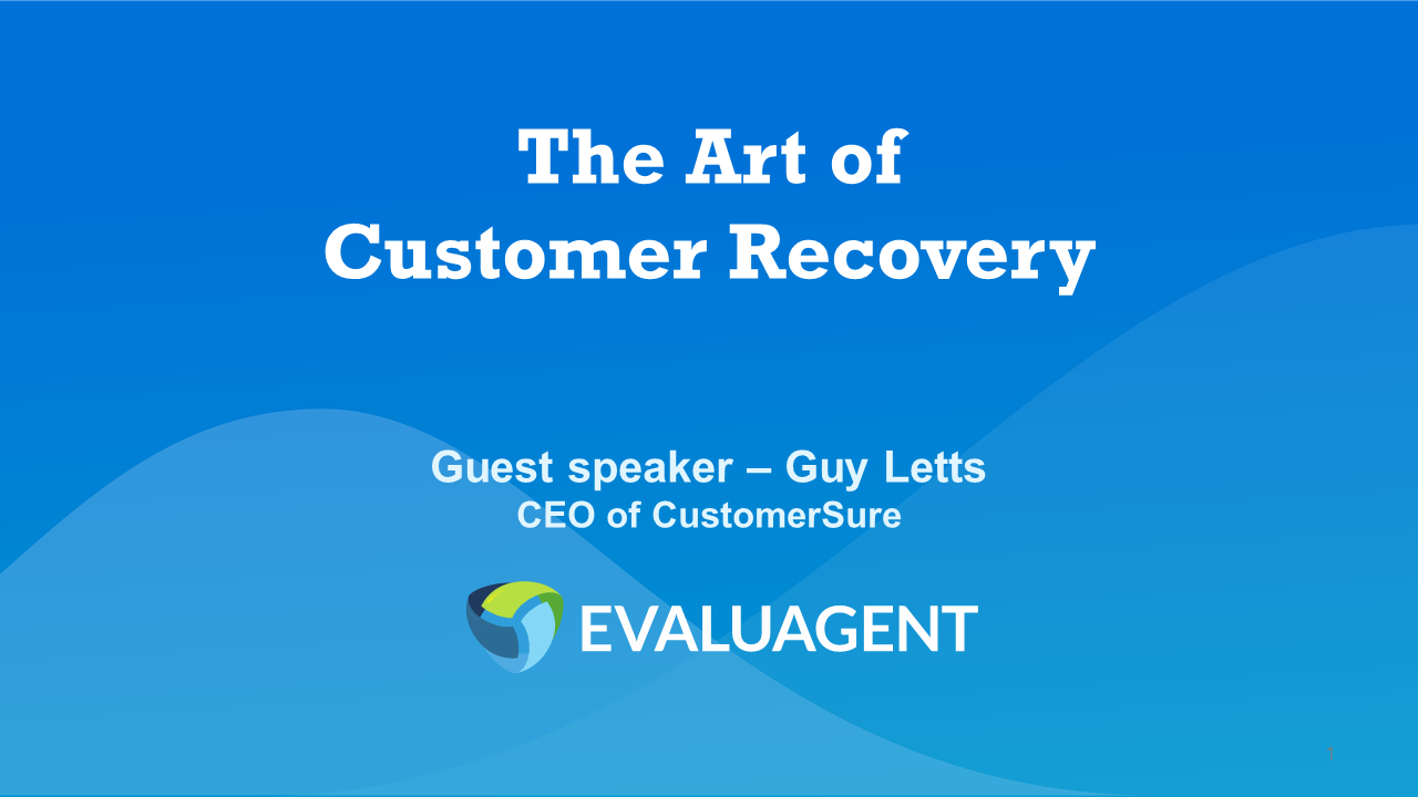 CustomerSure - Art of customer recovery -23.10.19