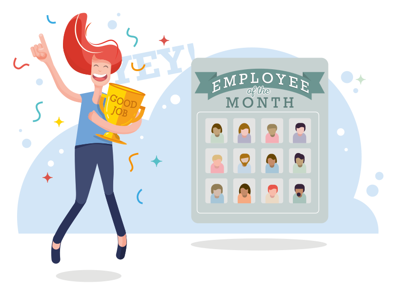 How to use reward and recognition as an employee engagement tool _ EvaluAgent top tips _ Employee of the month