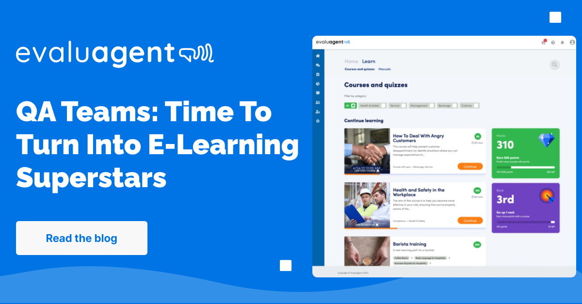 EvaluAgent LMS. E-learning for Contact Centre